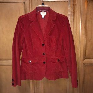 Talbot's red corduroy blazer
